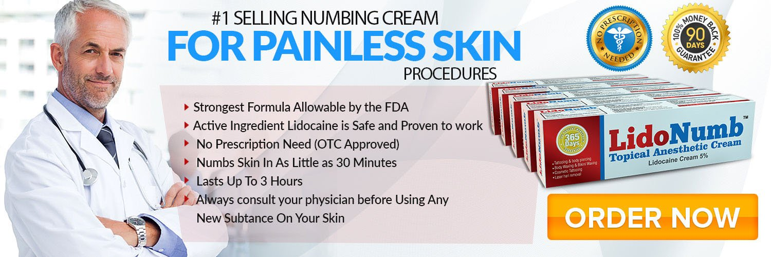 Numbing Cream for Painless Skin Procedure